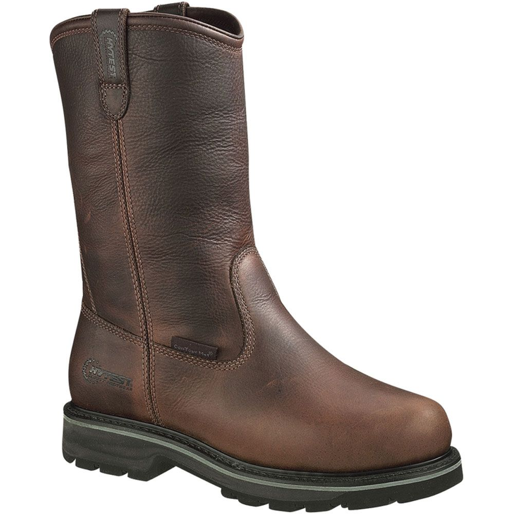 15271 hytest mens internal met guard safety boots brown