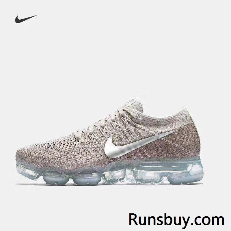 d234bea53d5a Nike Air VaporMax 2018 Flyknit Rose Gold Silver Tick Women Men ...