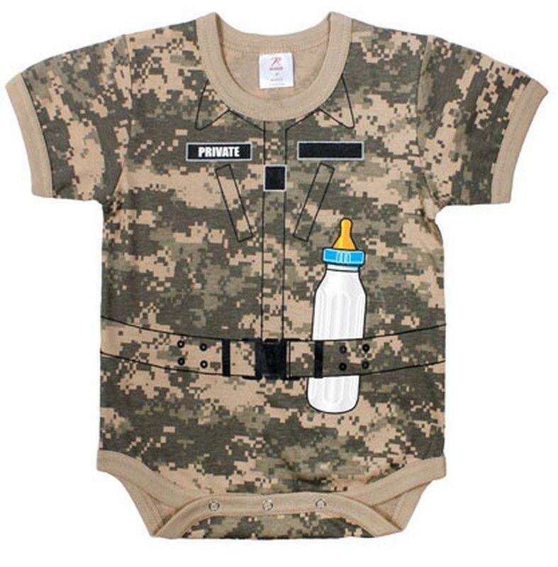 Infant Soldier Romper One Piece Acu Digital Camo Digital Camo