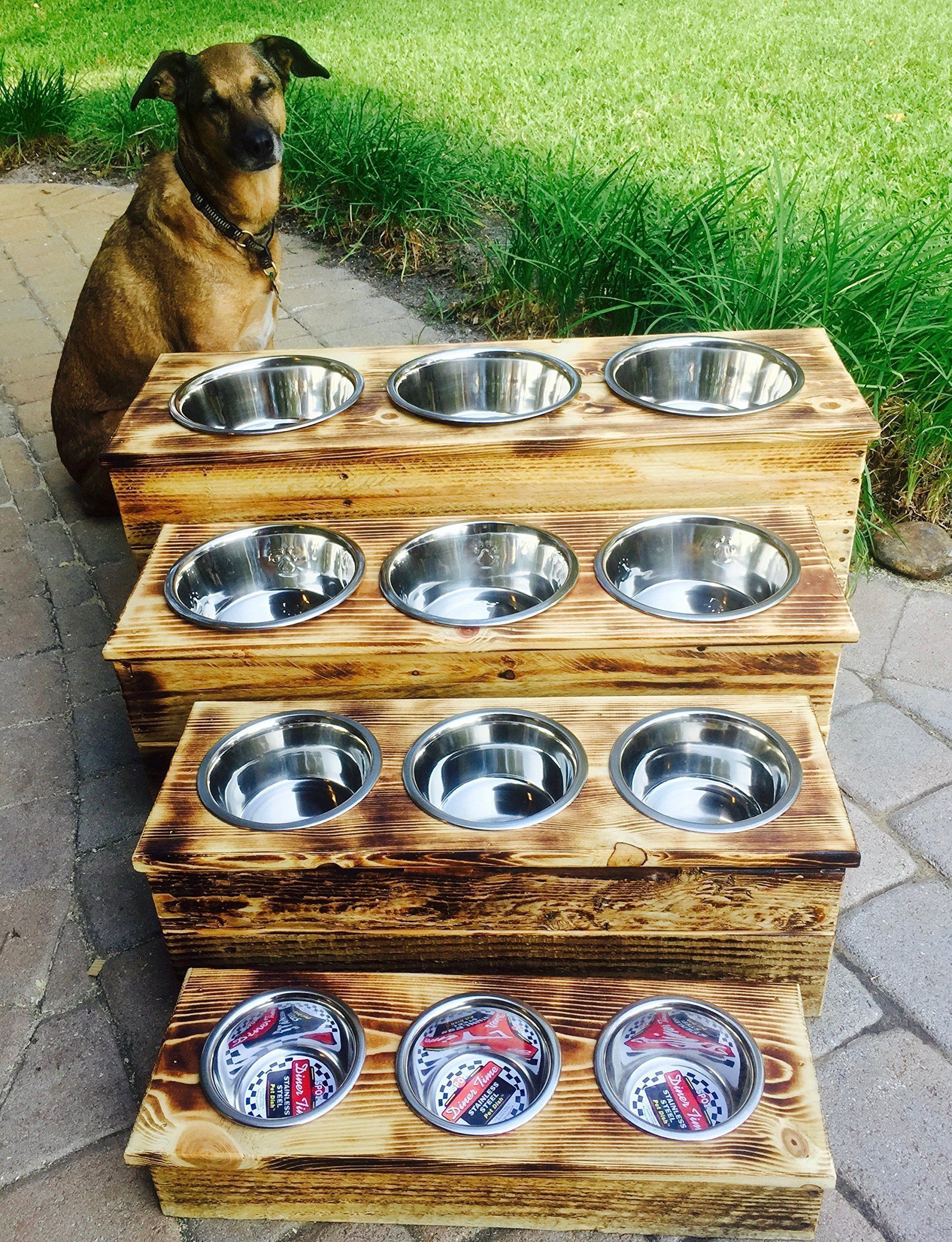 Pet Supplies Dishes, Feeders & Fountains Metal Cat Dog Pet Food Bowls Feed Dishes Elevated Stand