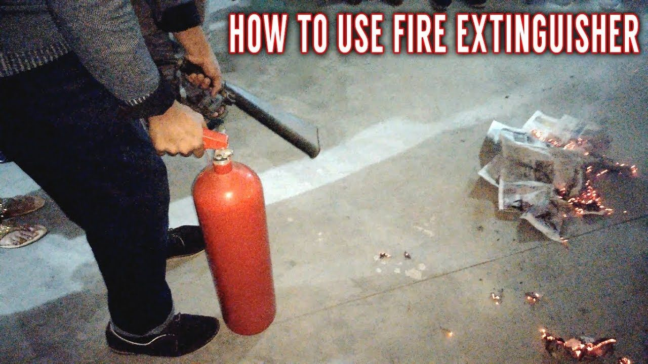 How to Use CO2 Fire Extinguisher Fire Safety Training