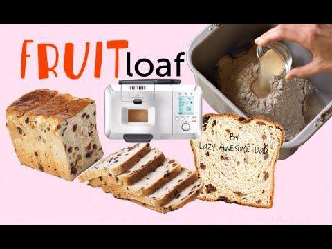 Simple Raisin Fruit Loaf Bread Recipe Breadmaker Machine Breville Custom Bread Maker Recipes Loaf Bread Honey Bread