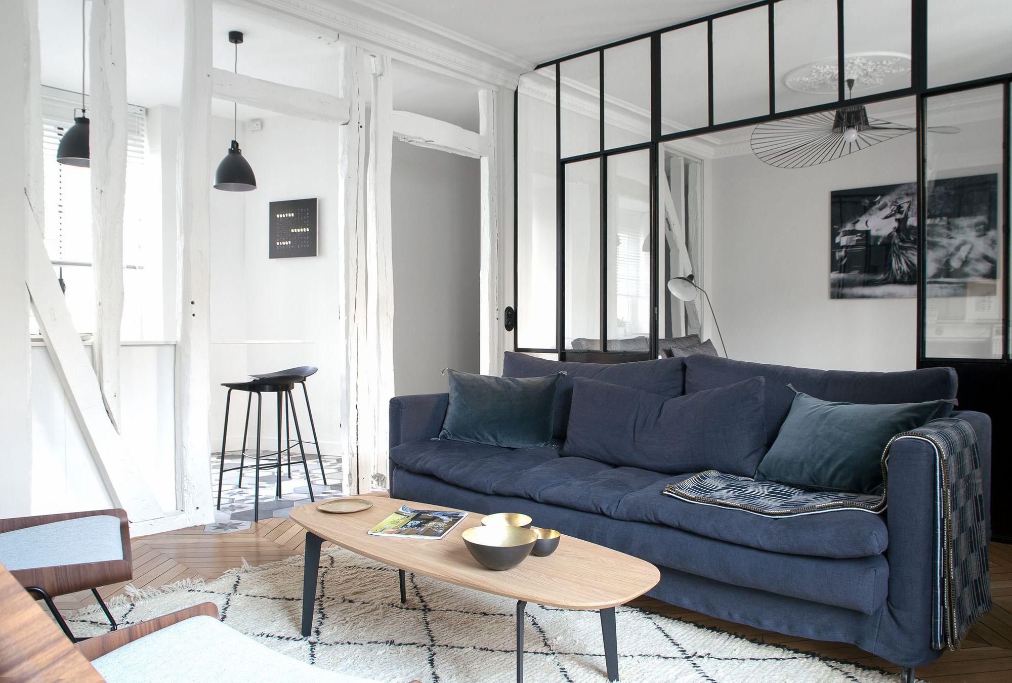 Appartement paris 6 un 90 m2 haussmannien moderne