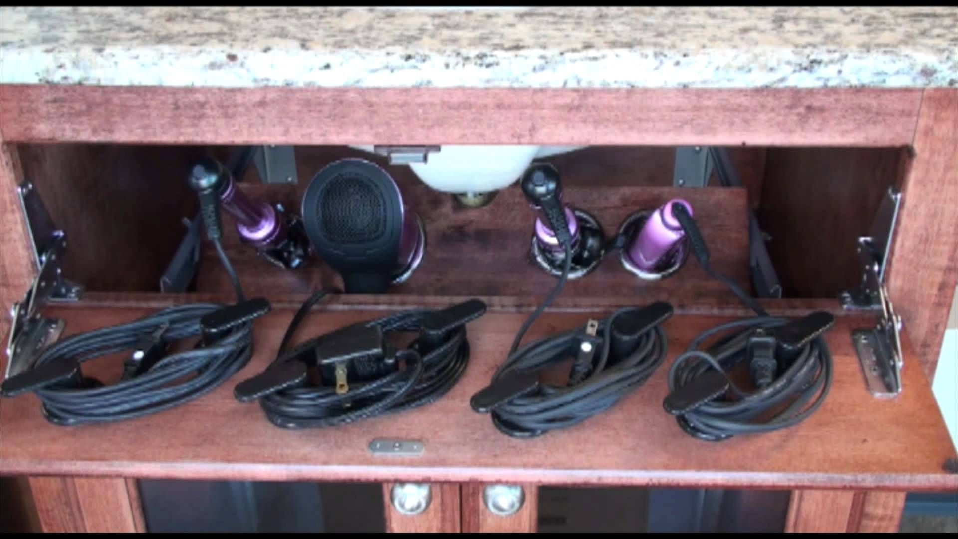 Pojjo Vanity Valet Secret Dryer Curling Iron Flat Storage