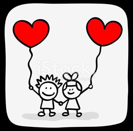 Valentine S Day Kids Lovers Holding Hands Cartoon Cakes
