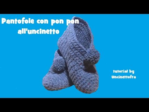 Photo of Pantofole con pon pon all'uncinetto tutorial