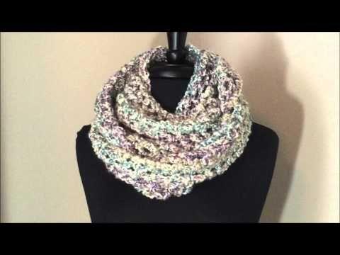 Chunky Cowl With Lion Brand Homespun Yarn Youtube Crochet