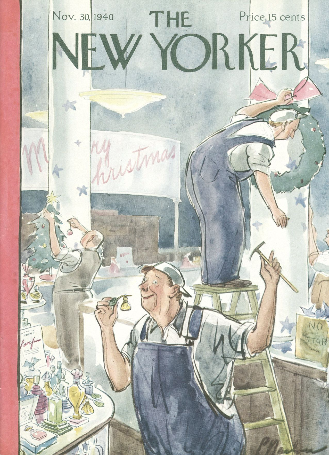 The New Yorker - Saturday, November 30, 1940 - Issue # 824 - Vol. 16 - N° 42 - Cover by : Perry Barlow