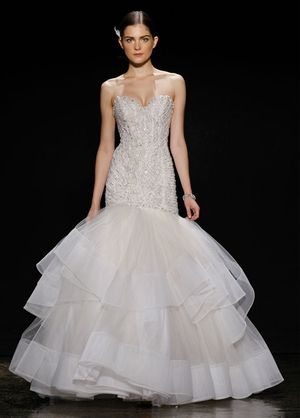 Sweetheart Mermaid Wedding Dress  with Dropped Waist in Beaded Embroidery. Bridal Gown Style Number:33002569