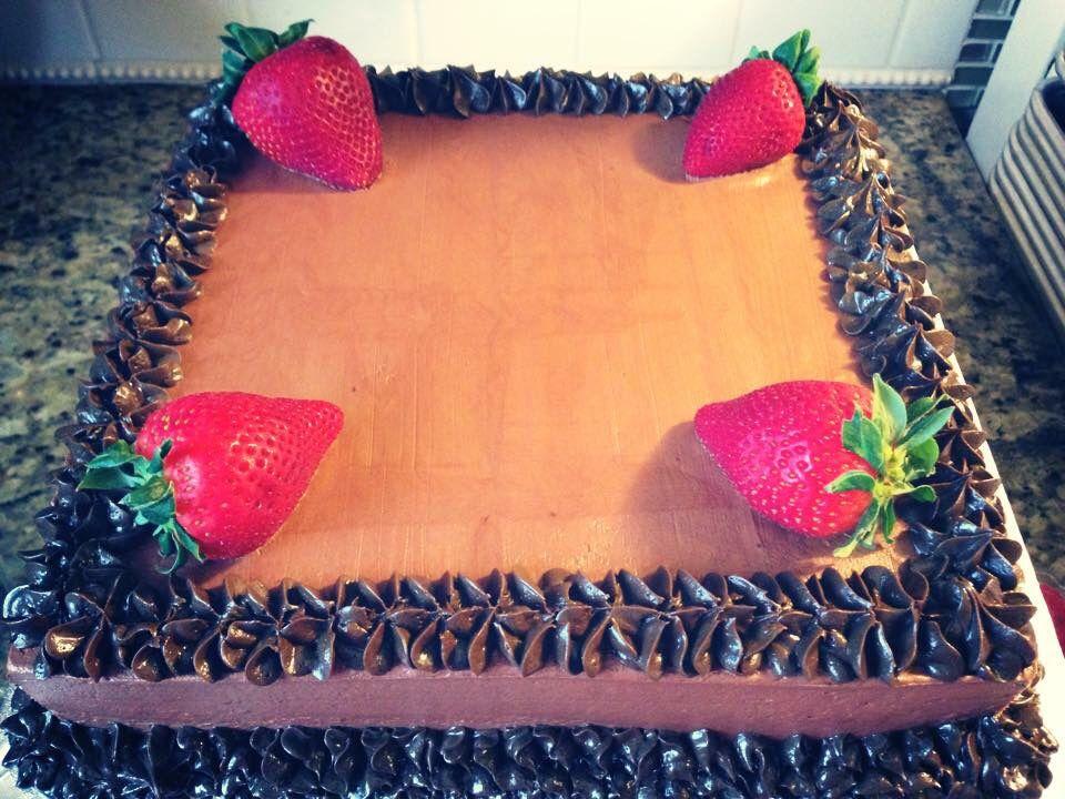 Chocolate Cake w/Fresh Strawberries