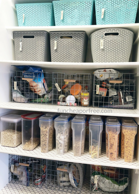 super simple pantry organization ideas pantry organization organization hacks snacks on kitchen organization no pantry id=95720