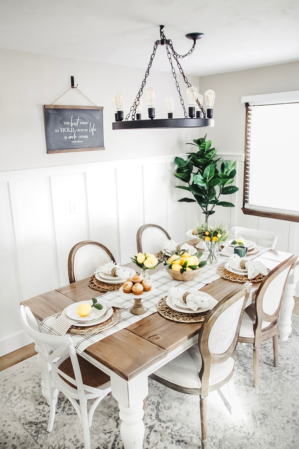 Here S Some Inspiration For Your Next Spring Table Setting We Love How Farmhouse Flare Designs Paired Her Kirkland Home Decor Home Decor Farmhouse Dining Room