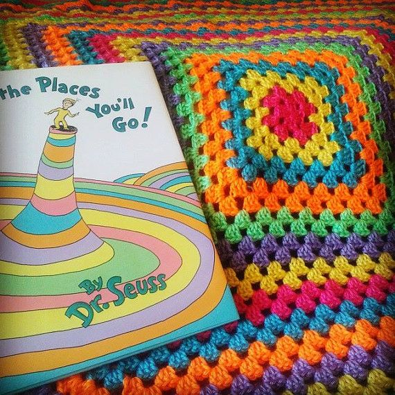 Crochet Dr. Seuss Baby Blanket. Oh, the Places You\'ll Go! Hey, I ...