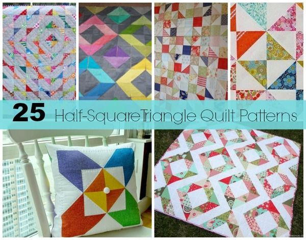 25 Half-Square Triangles Free Quilting Patterns | Half square ... : half square triangle quilt - Adamdwight.com