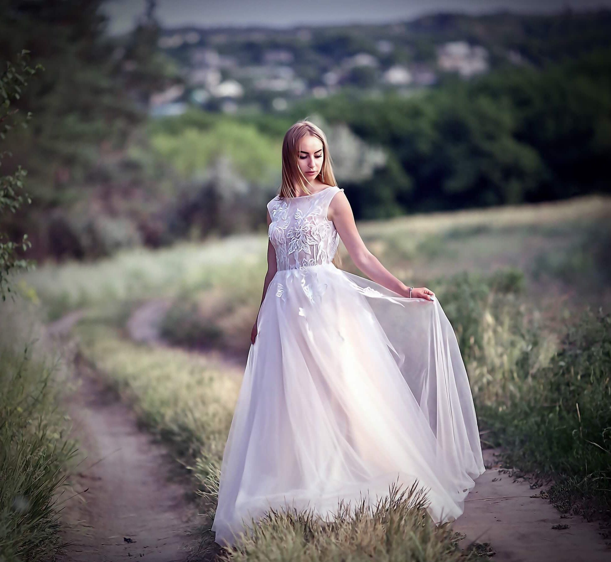 Blush wedding dress simple wedding dress romantic etsy