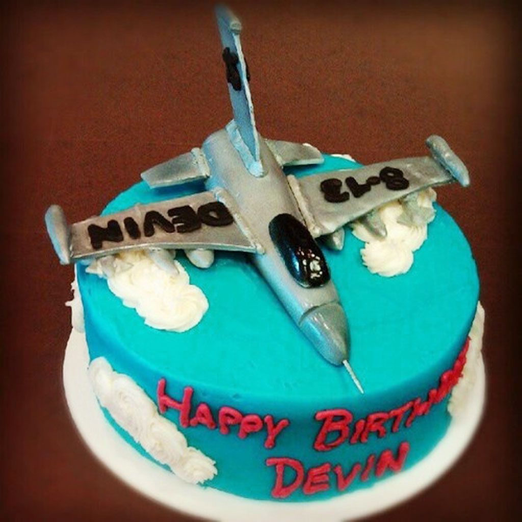 Fighter Jet Birthday Cake