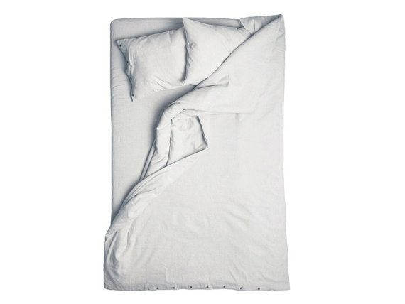Duvet cover Dove grey linen queen size duvet King size linen bedding Twin or Double light grey linen duvet covers