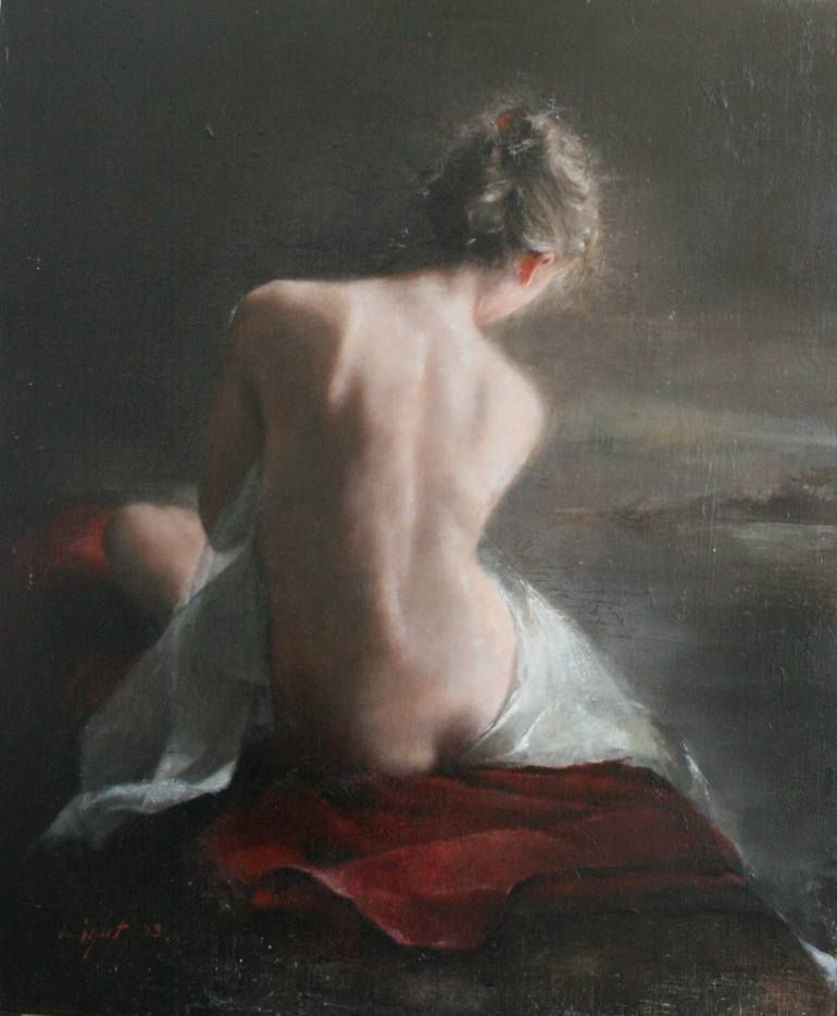 Saatchi Art Artist Mara Light Painting Figure Study Sold To A Collector In
