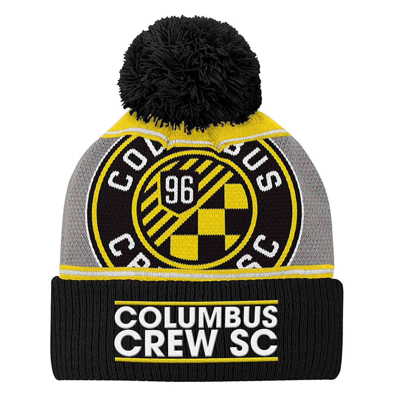 size 40 c280d b2d43 Outerstuff MLS teen-boys Fan Cuffed Pom Hat,  24.00   Columbus Crew SC  Amazon Fan Shop Caps   Hats   Pinterest