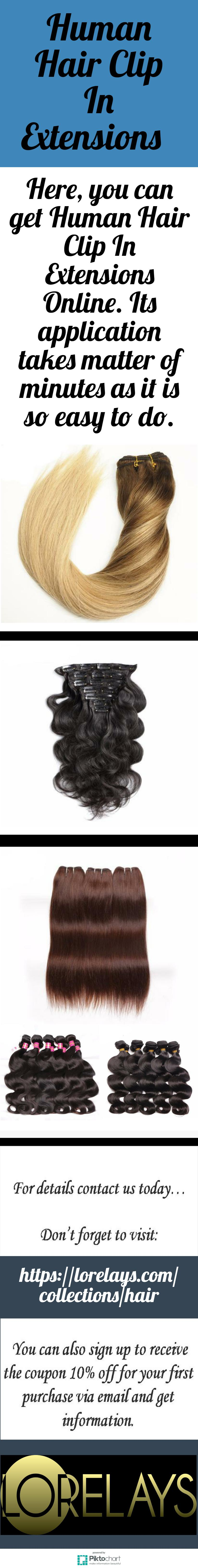 Here You Can Get Human Hair Clip In Extensions Online Its