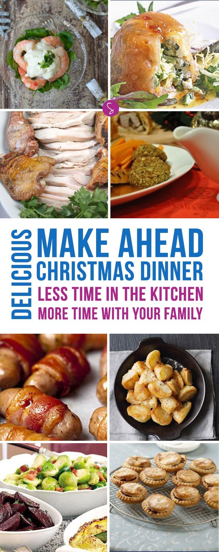 love the idea of being able to make ahead my christmas dinner so im - Make Ahead Christmas Dinner Recipes