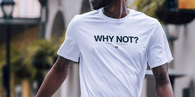 Men's Westbrook Why Shirt White Black Russell Air NotT Mvp Jordan e2WEYHID9