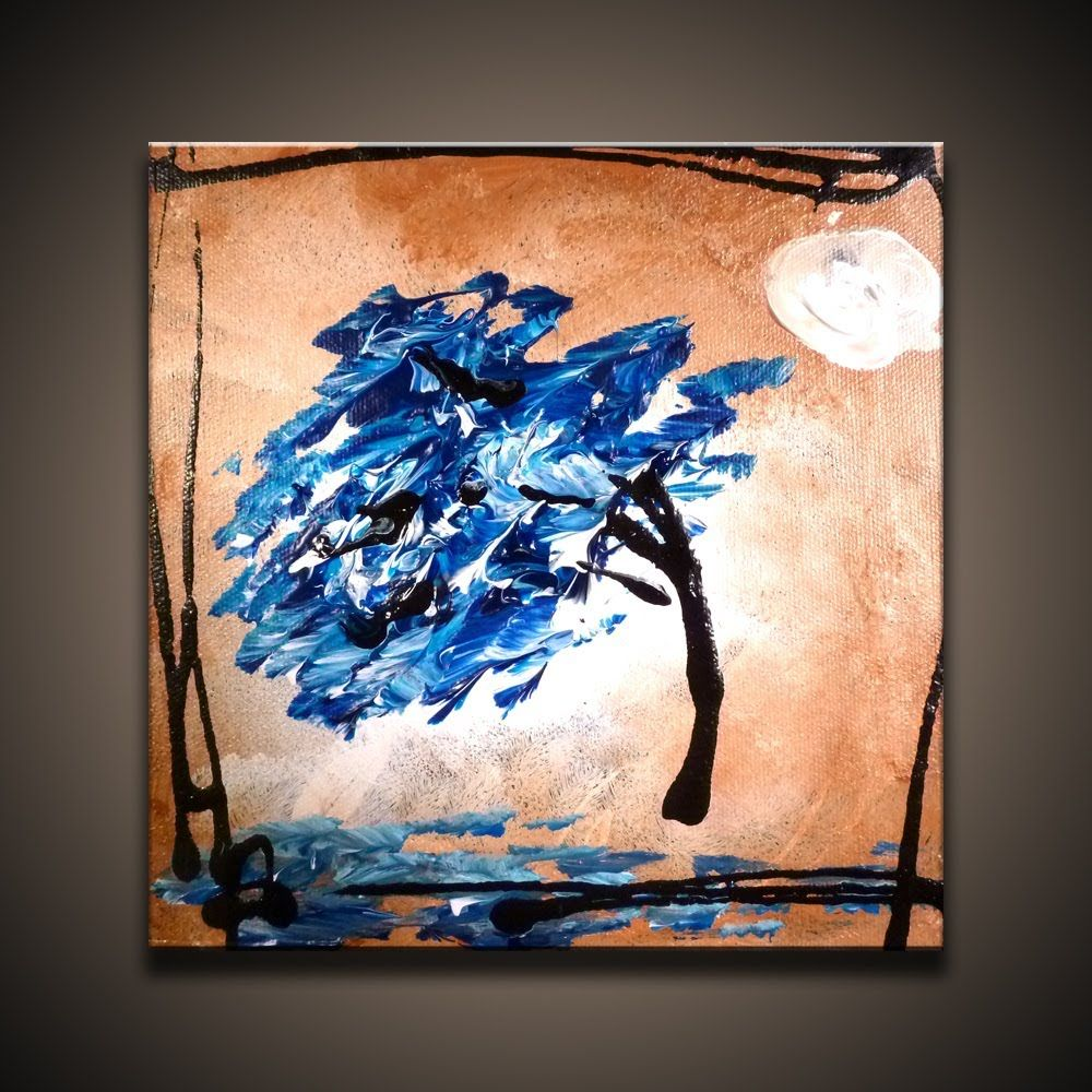 Simple Way To Create Modern Landscape Abstract Painting