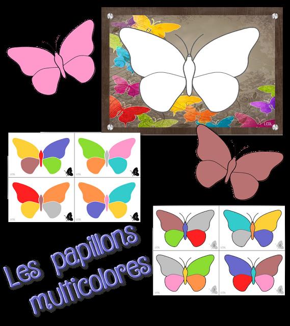 la maternelle de laur ne les papillons multicolores ateliers autonomes montessori. Black Bedroom Furniture Sets. Home Design Ideas