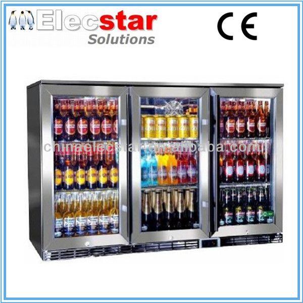 Elecstar Lg Series 3 Glass Door Big Capacity Display Back Bar Cooler Stainless Steel Refrigerator Beer Chiller Alcoho Bar Fridges Outdoor Bar Glass Door Fridge