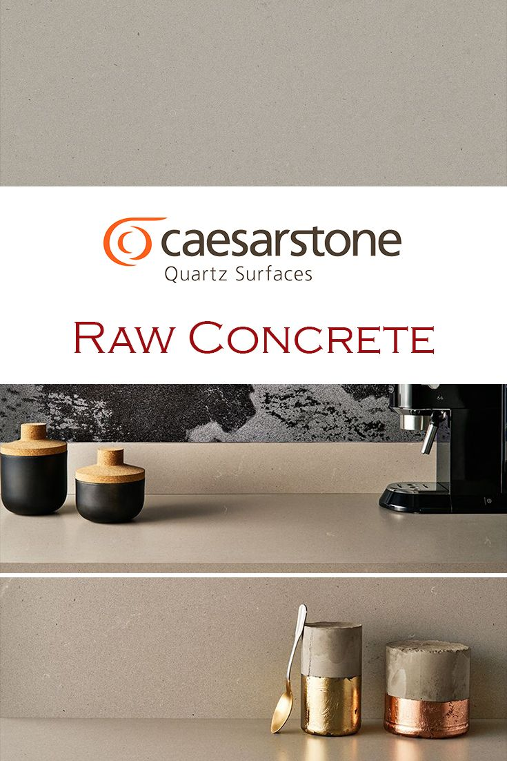 Raw Concrete By Caesarstone Is Perfect For A Kitchen Quartz