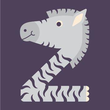 letter z // animal alphabet // zebra art print by jen montgomery