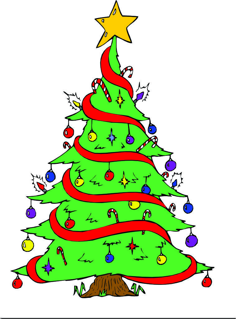 Cartoon Christmas Pics Clipart Best Cartoon Christmas Tree Christmas Tree Images Christmas Worksheets