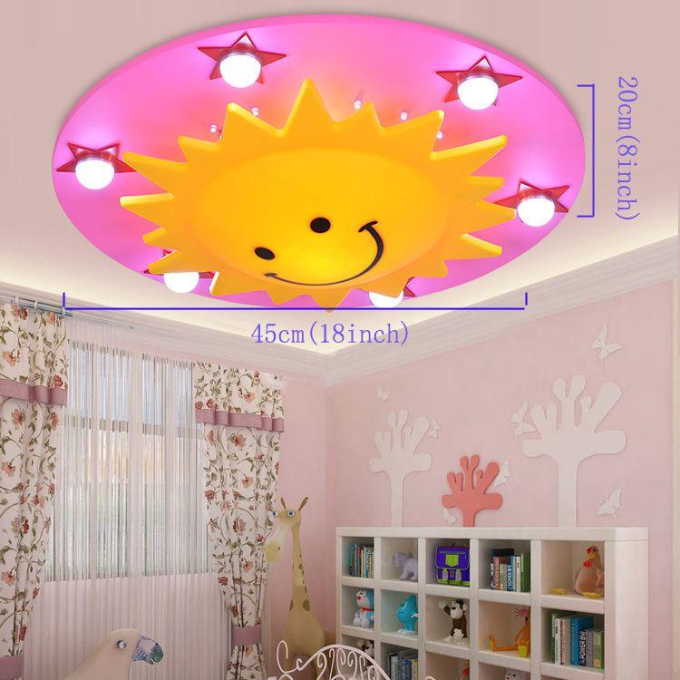 Buy (EU Lager)LED Deckenleuchte Kinderzimmer Sonne Sterne