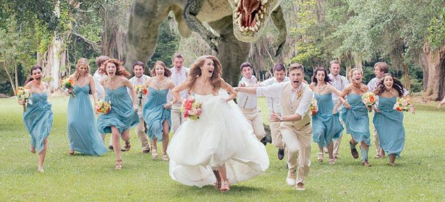 Run Right At The Camera Away From T Rex As Pionately