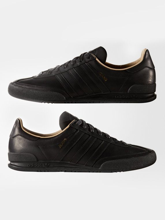 adidas jeans black leather