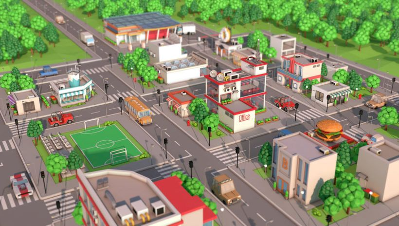 Low Poly City Pack Download 3D model in 2019 | Low Poly | Low poly
