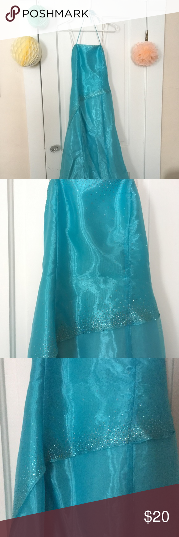 Prom dress-size small (used) | Shearing, Dress prom and Teal