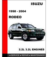 Isuzu Rodeo 1998 2004 Oem Factory Service Repair Manual In Fast Pdf Download 14 95 Repair Manuals Repair Rodeo