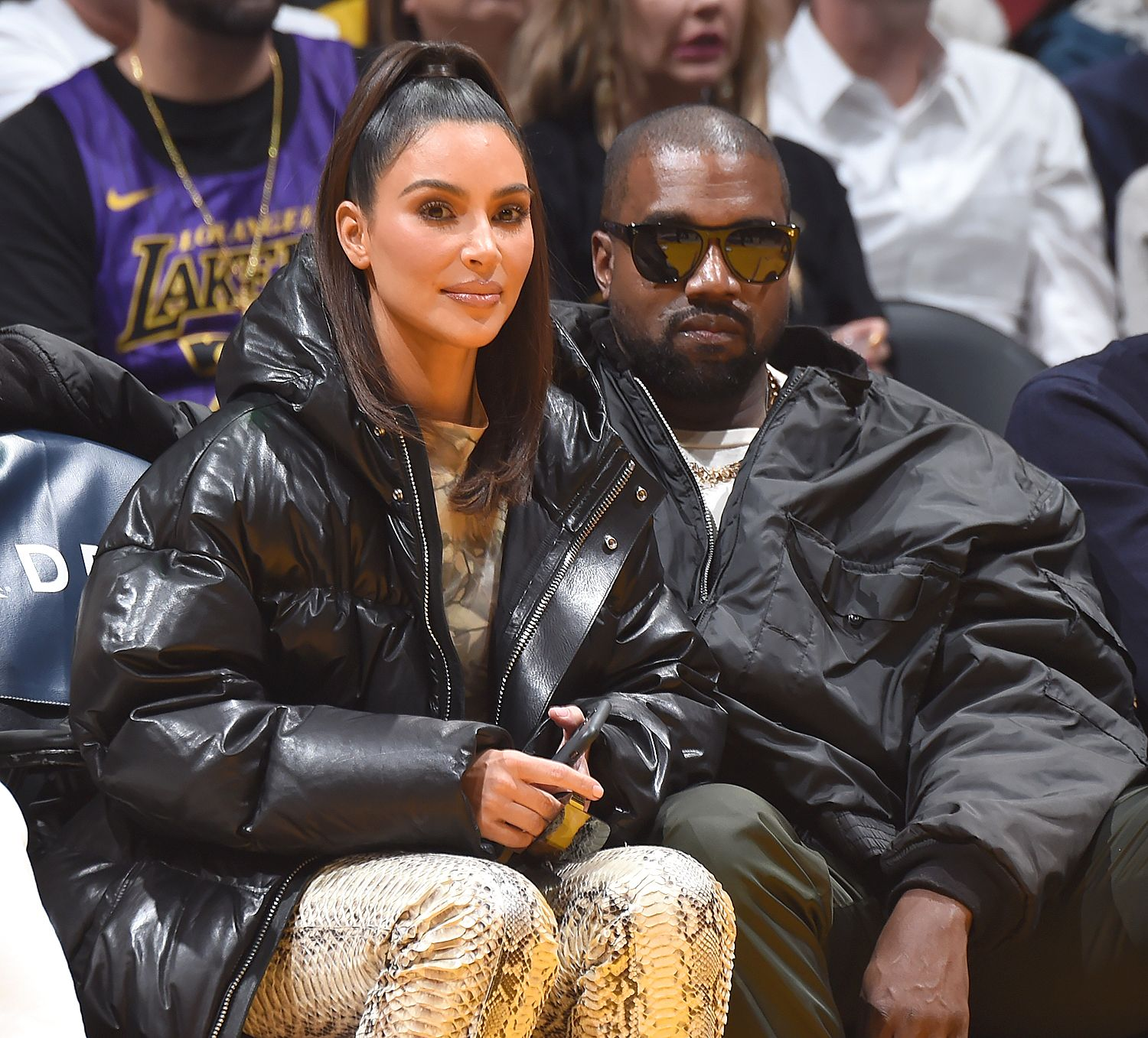 Kim Kardashian And Kanye West Sit Courtside As Khloe S Ex Tristan Thompson Takes On The Lakers In 2020 Kim Kardashian Kanye West Kim Kardashian Kim Kardashian And Kanye