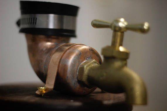 Walnut Liquor Dispenser whiskey faucet guy gift man cave | beverage ...
