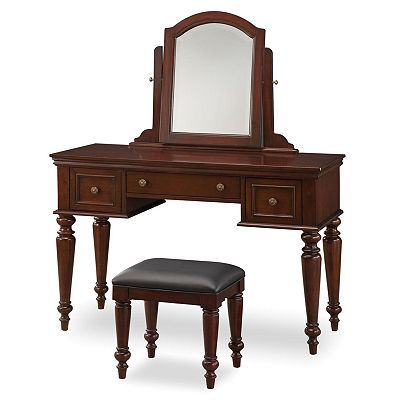 Lafayette Vanity Table With Mirror And Bench Set Table And Bench Set Home Styles Vanity Table