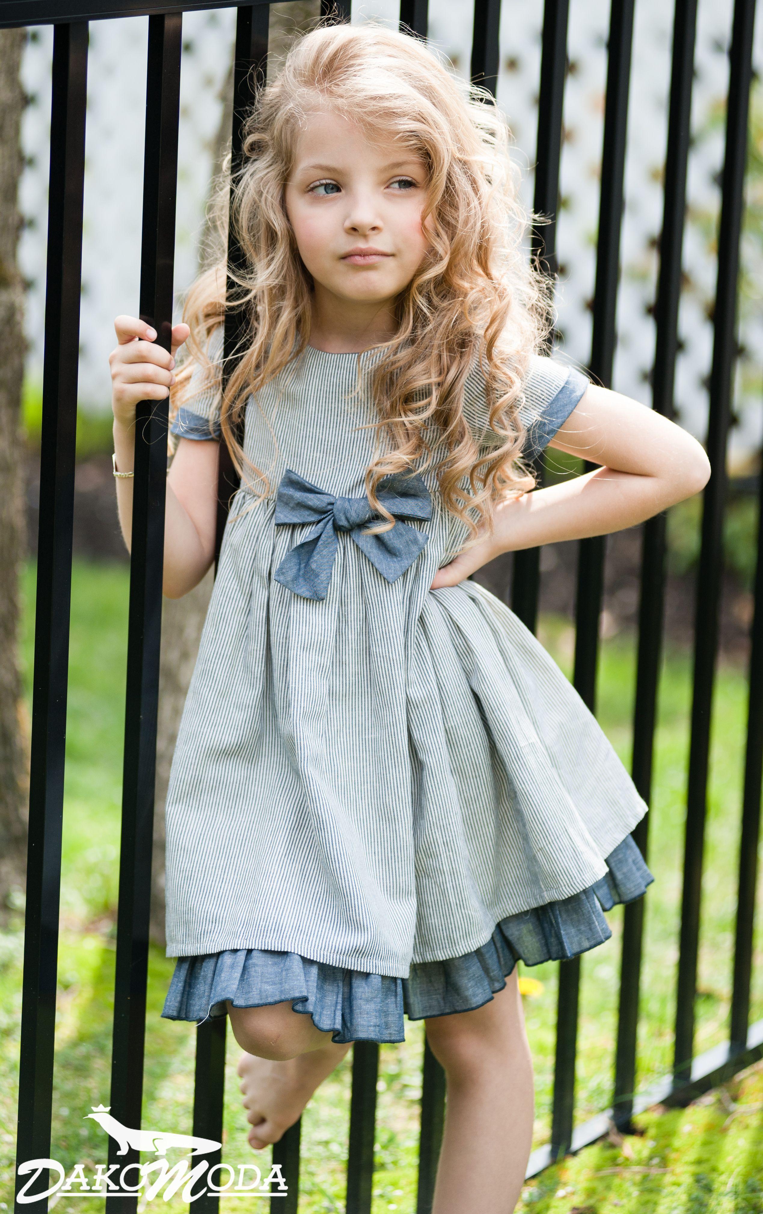 Striped Bow Party Dress #Dakomoda, #kids, #fashion, #premium ...