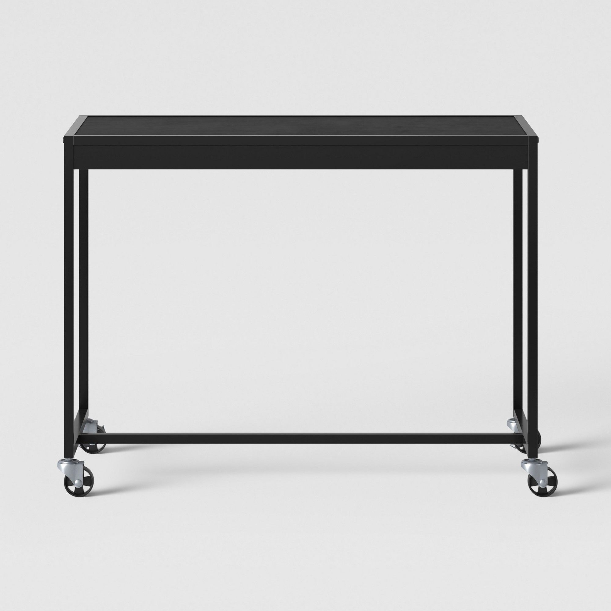Pleasing Metal Rolling Desk Black Room Essentials Products Home Interior And Landscaping Oversignezvosmurscom