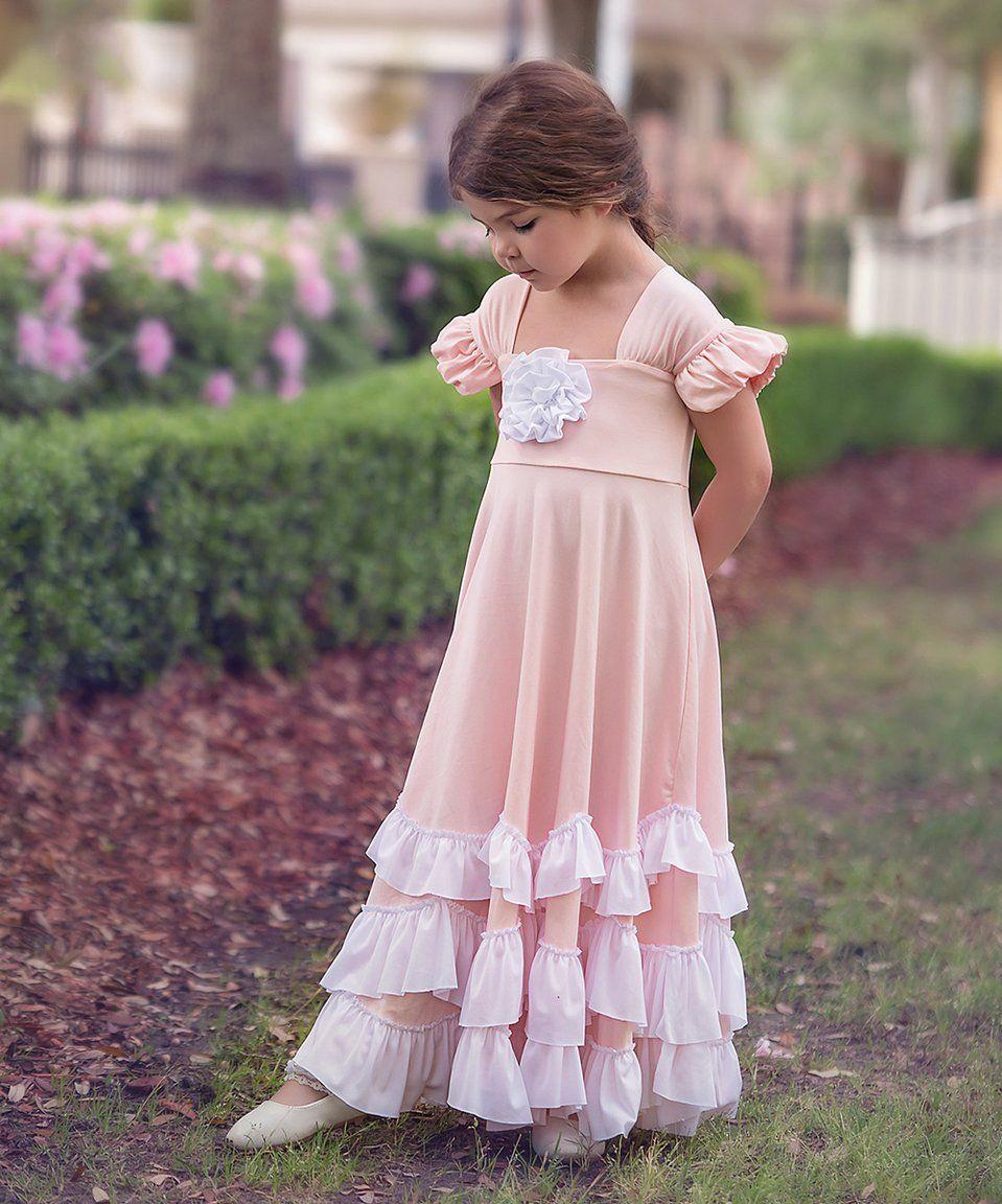 Take a look at this pink u white greta maxi dress toddler u girls