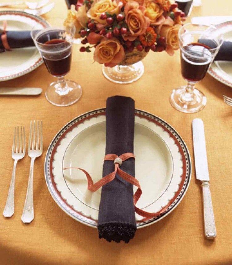 Herbstdeko Selber Machen Tisch Serviettenring