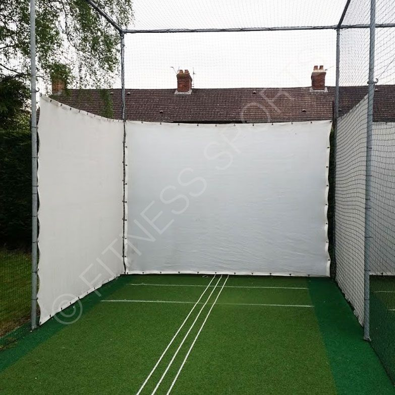 Canvas Sight Screens For Permanent Or Temporary Screening Of Cricket Batting Practice Net Lanes And To Act As Shock Cricket Sight Screen Cricket Cricket Nets