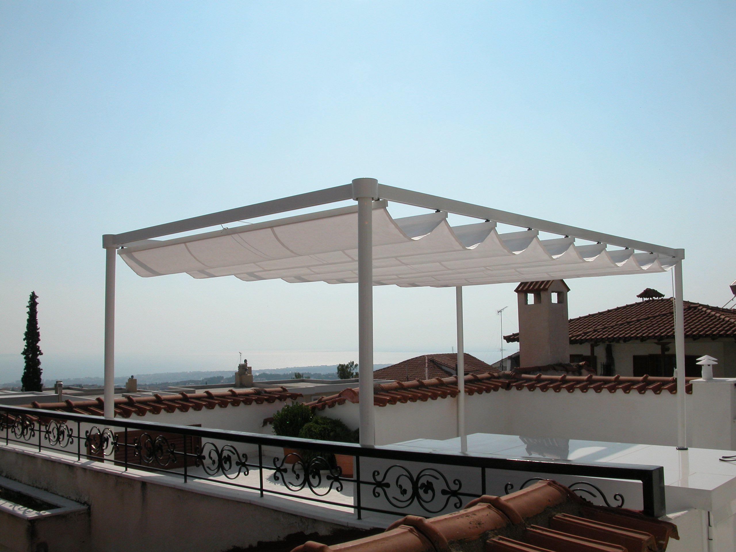 Awnings tenda da sole design shadelab leaf for Gazebo da terrazzo