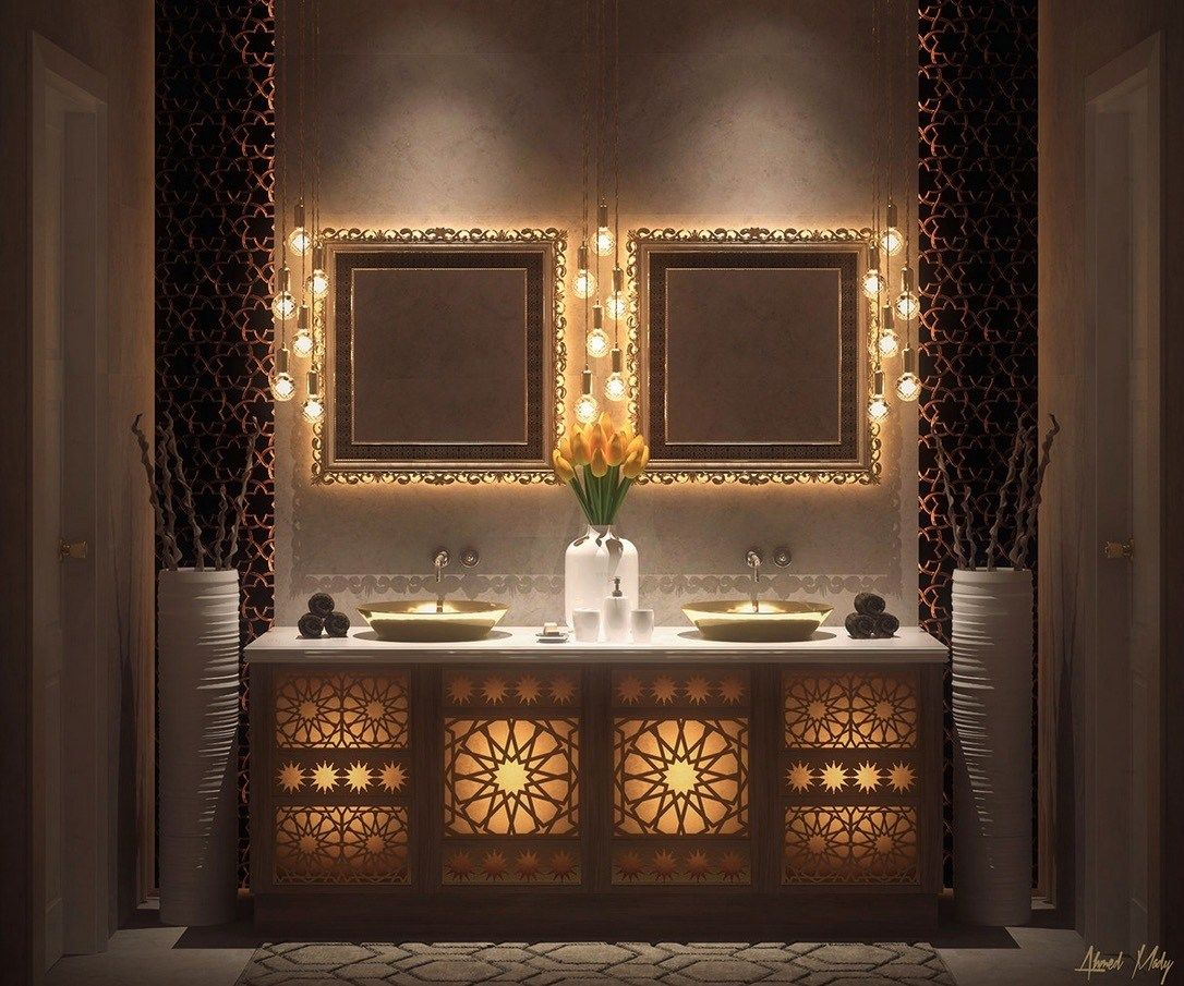 moroccan-bathroom-decorating-ideas.jpeg (1086×905) | purple ...