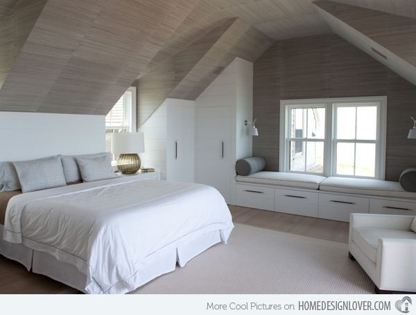 15 Charismatic Sloped Ceiling Bedrooms Attic Bedroom Small