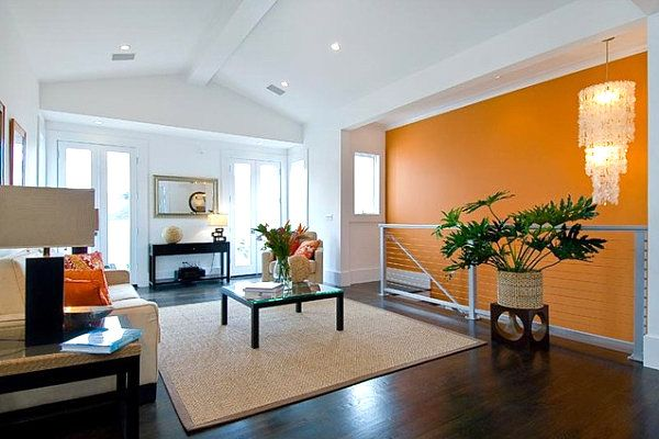 Amazing 100 Awesome Living Room Ideas For Your Home. Orange Accent WallsOrange ... Part 12